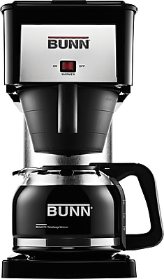 Bunn 10-Cup Coffee Brewer with Decanter, Black/Stainless Steel 459111