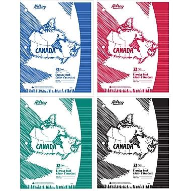 Hilroy - Cahier d'exercice Canada à couverture laminée, 27,6 cm x 21,2 cm, 32 pages, réglé, paq./4
