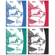 "Hilroy Laminated Cover Canada Exercise Book, 10-7/8"" x 8-3/8"", 32 Pages, Ruled, 4/Pack"