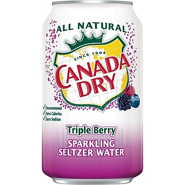 Canada Dry, Triple Berry Sparkling Seltzer Water