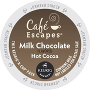 Café Escapes® Milk Chocolate Hot Cocoa, Keurig® K-Cup® Pods, 24/Box (6801)
