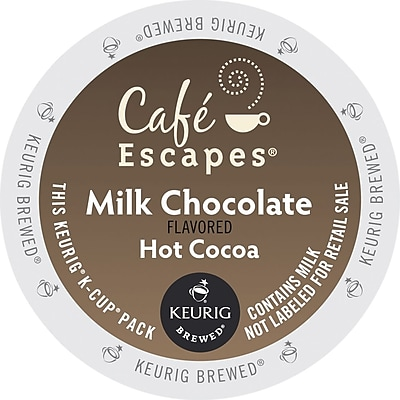 Café Escapes® Milk Chocolate Hot Cocoa, Keurig® K-Cup® Pods, 96/Carton (68013)