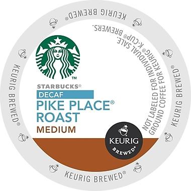 Keurig® K-Cup® Starbucks® Pike Place® Roast Coffee, Decaffeinated, 24/Pack