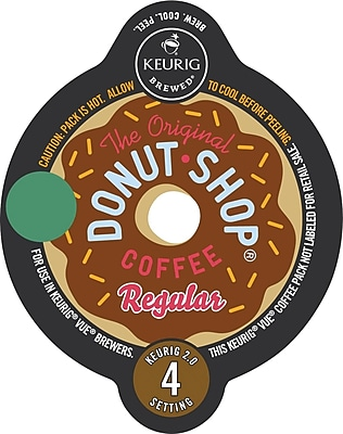 Keurig® Vue® Pack Coffee People® Original Donut Shop, Regular, 16/Pack