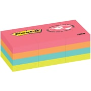 "Post-it® Notes, Cape Town Collection, 1.5"" x 2"", 100 Sheets/Pad, 12/pack"