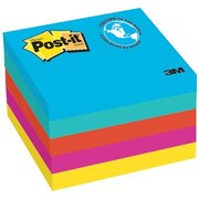 Post-it® - Feuillets, Collection Jaipur, 3 po x 3 po, bloc/100 feuilles, paq./5