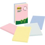"Post-it® Greener Notes, Helsinki Collection, 4"" x 6"", 5 pads/pack"