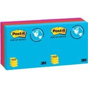 Post-it® - Feuillets autocollants, collection Jaipur, 3 po x 3 po, paq./6