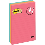 "Post-it® Notes, Cape Town Collection, Lined, 4""x 6"", 3 pads/pack"