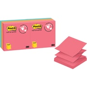 """Post-it® Pop-up Notes, Cape Town Collection, 3"""" x 3"""", 6 pads/pack"""