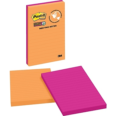 Post-it® Super Sticky Notes, Rio de Janeiro Collection, Lined, 5