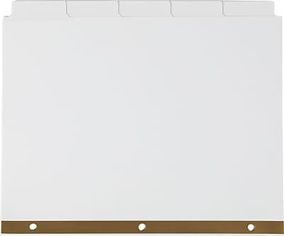 Staples Write-On™ BIG TAB 5-Tab Set Dividers, White Tabs, 4/Pack (13508)