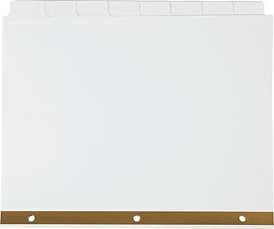 Staples Write-On™ BIG TAB Dividers, 8-Tab Set, White Tabs, 4/Pack