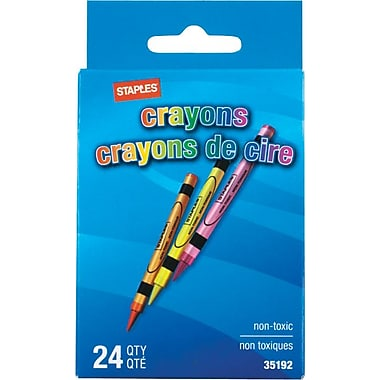 Staples - Crayons, paq./24