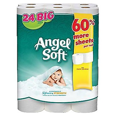 Angel Soft 2-Ply Big Rolls Bath Tissue, 24 Rolls/Pack (75239/77239)