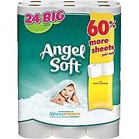24-Pack Angel Soft 2-Ply Bath Tissue