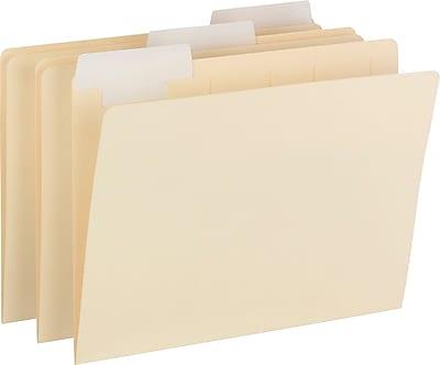 Smead FlexiFolder Heavyweight Folder with Movable Tab, Letter, , 1/3 Tab Cut, 14 pt., Paper, Manila