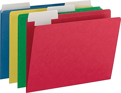 Smead FlexiFolder Heavyweight Folder with Movable Tab, Letter, , 1/3 Tab Cut, 14 pt., Paper, Assorted (10404)