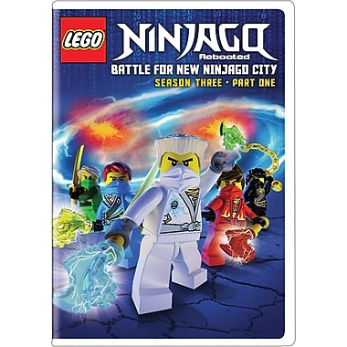 Lego Ninjago Rebooted: Battle for New Ninjago City Season 3 Part 1 (DVD), anglais