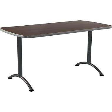 ICEBERG ARC 60'' Rectangular Conference Table, Walnut Charcoal (69214)