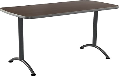 ICEBERG ARC 60'' Rectangular Conference Table, Walnut Charcoal (69214)