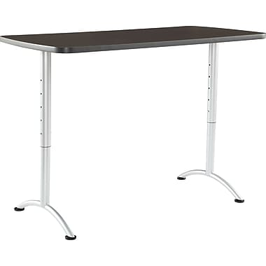 ICEBERG ARC 30'' Standard Sit & Stand Desk, Gray Walnut (69315)