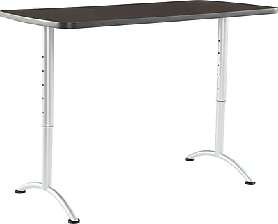 ICEBERG ARC 30'' Standard Sit & Stand Desk, Gray Walnut (69315)