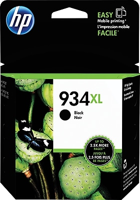 HP 934XL (C2P23AN#140) Black Ink Cartridge, High Yield