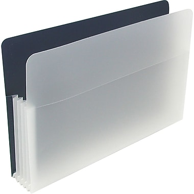 Poly File Pocket, Letter, 5-1/4