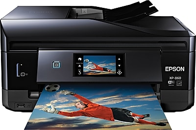 Epson® Expression XP-860 Wireless Small-in-One Multifunction Color Inkjet Photo Printer (C11CD95201)
