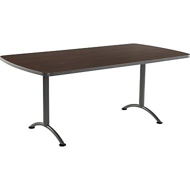 ICEBERG ARC 72'' Rectangular Conference Table, Walnut Charcoal (69224)
