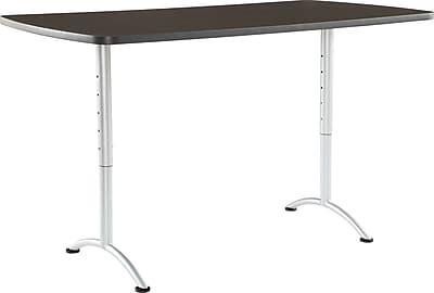 ICEBERG ARC 36'' Standard Sit & Stand Desk, Gray Walnut (69325)
