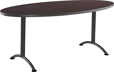 ICEBERG ARC 72'' Oval Conference Table, Walnut Charcoal (69424)
