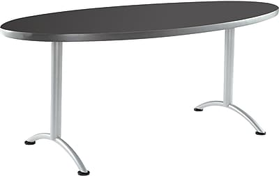 ICEBERG ARC 72'' Oval Conference Table, Graphite (69427)