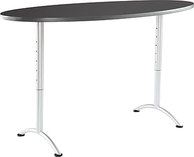 ARC Adjustable Height Table 36x72 Oval, Graphite