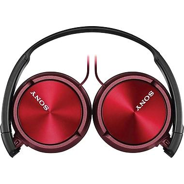 Sony® – Casque d'écoute MDRZX310APR pour téléphone intelligent, rouge