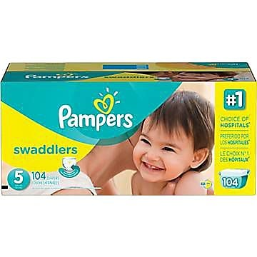 Pampers® Swaddlers Diapers, Size 5, 104/Case