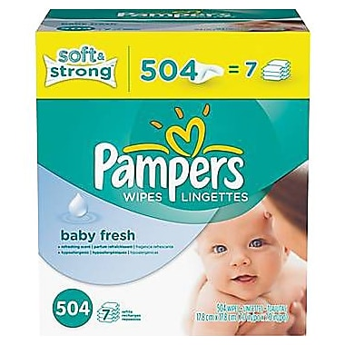 Pampers® Wipes Baby Fresh Refill, 504/case