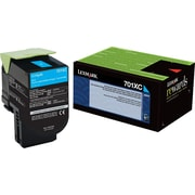 Lexmark 701XC Cyan Return Program Toner Cartridge, Extra High Yield (70C1XC0)