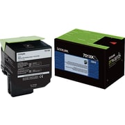 Lexmark 701XK Black Return Program Toner Cartridge, Extra High Yield (70C1XK0)