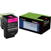 Lexmark 701XM Magenta Return Program Toner Cartridge, Extra High Yield (70C1XM0)
