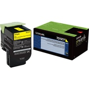 Lexmark 701XY Yellow Return Program Toner Cartridge, Extra High Yield (70C1XY0)