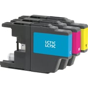 Staples Remanufactured C/M/Y Color Ink Cartridges, Brother LC71 (SIB-RLC71CMYDS), Combo 3/Pack