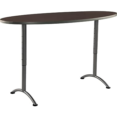 ICEBERG ARC 36'' Standard Sit & Stand Desk, Walnut Charcoal (69624)
