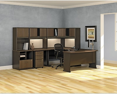 Bush® Cubix Collection, Sienna Walnut & Bronze