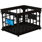 Storex® Storage Crate, Black
