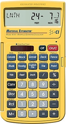 Calculated Industries Material Estimating Calculator