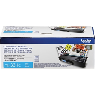 Brother – Cartouche de toner cyan TN331, (TN331C)