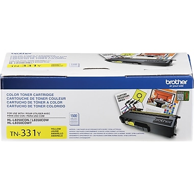 Brother – Cartouche de toner jaune TN331, (TN331Y)