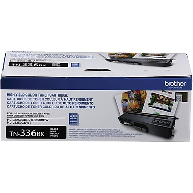 Brother TN336 Black Toner Cartridge, High Yield (TN336BK)